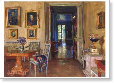 "Zhukovsky Stanislav. A Room in ""Brasovo"" Estate. Art print on canvas"