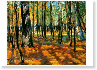 Zhukovsky Stanislav. Forest - Landscape. Art print on canvas