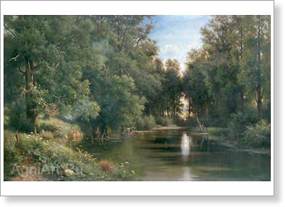 Kamenev Lev. Pond in the Park. Fine art print B2