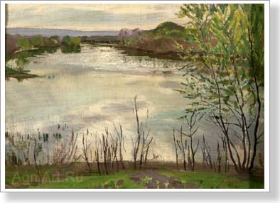Rylov Arkady. Spring on the river Oskol. Art print on canvas