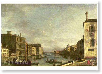 Marieschi Michele. Big Channel in Venice. Art print on canvas