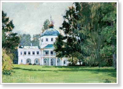 Kustodiyev Boris. Mansion in the Park. Art print on canvas