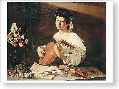 Caravaggio. The Lute-Player. Fine art postcard A6
