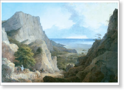 Chernetsov Nikanor. Crimean View. Art print on canvas
