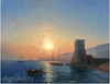 Aivazovsky Ivan. Feodosiya -- Sunrise. Art prints on a stretcher
