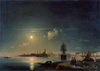 Aivazovsky Ivan. Night in Venice. Art prints on a stretcher 50х70