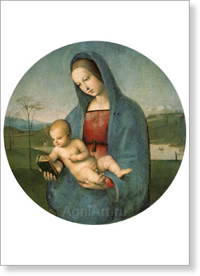 Raphael. Madonna and Child (The Conestabile Madonna). Fine art postcard A6