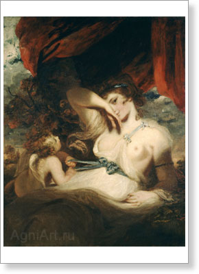 Reynolds Joshua. Cupid Untying the Girdle of Venus. Art print on canvas