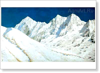 Vereshchagin Vasily V. In India - Snows of the Himalayas. Art print on canvas