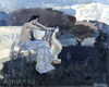 Mikhail Vrubel. Muse. Art print on canvas