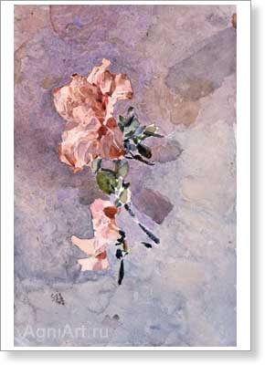 Mikhail Vrubel. Pink Azalea. Art print on canvas