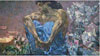 Mikhail Vrubel. Demon (Seated). Art print on canvas