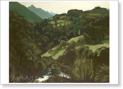 Bushen Dmitry. Pyrenees. Art print on canvas