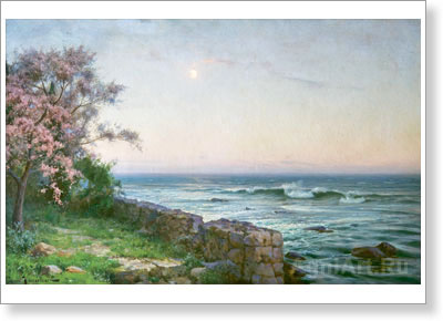 Krachkovsky Joseph. Moonrise (Almond Tree in Blossom). Fine art print С3