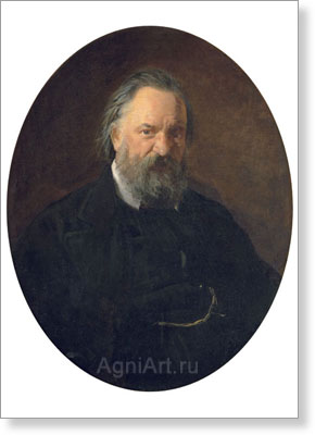 Ghe Nikolay. Writer Alexander Herzen. Art print on canvas