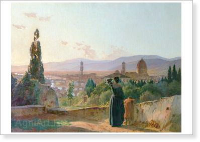 Ghe Nikolay. Florence. Art print on canvas