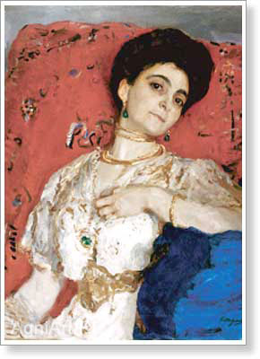 Serov Valentin. Maria Akimova. Art print on canvas