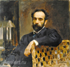 Serov Valentin. Portrait of Isaac Levitan. Art print on canvas