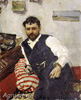 Serov Valentin. Portrait of Konstantin Korovin. Art print on canvas