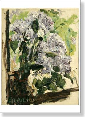 Serov Valentin. Lilac. An etude. Art print on canvas
