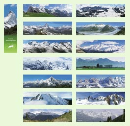 "Set of bookmarks ""Alps"""