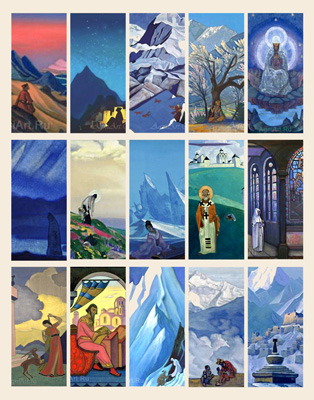 "Set of bookmarks ""Nicholas Roerich"""