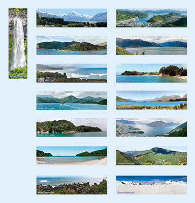 "Set of bookmarks ""New Zealand"""
