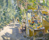 Korovin Konstantin. Crimea. Fruit shop. Fine art print B3