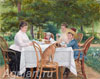 Tretyakov Nikolay. Morning at the Dacha. Art print on canvas