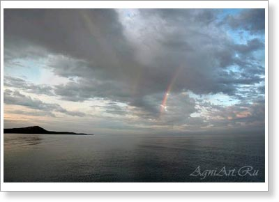 Landscapes of Russia. Lake Baikal. Russia. Rainbow. 2984