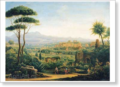 Matveyev Fyodor. View in the Outskirts of Tivoli. Fine art print A4