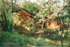 Khokhryakov Nikolay. Apple Trees in Blossom. Fine art postcard A6