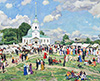 The Tretyakov Gallery. Yuon Constantin. Rural holiday. Tver province. Art print on canvas