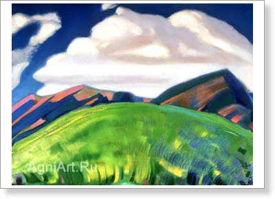 Roerich Svetoslav. landscape. Art print on canvas