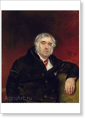 Bryullov Karl. Fable Writer Ivan Krylov. Art print on canvas