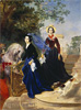 Bryullov Karl. Portrait of the Sisters Shishmaryov. Art print on canvas