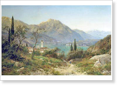 Velts Ivan. View of Northern Italy. Art print on canvas