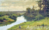 Velts Ivan.  Forest river. Art print on canvas - paintings, sale of paintings