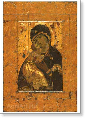 Icons. The Virgin of Vladimir. Fine art print A4 +
