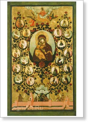 Icons. The Tree of the Moscow State (The Praise of Our Lady of Vladimir). Fine art print B3