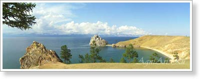View of Lake Baikal. Poster B2+ (33x95 cm)