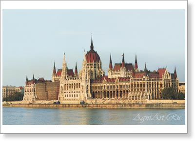 Cities. Budapest. The building of the Parliament. Poster A1  (70x100 cm)