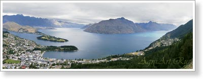 New Zealand. South Island. Qweenstown.Poster B2+ (33x95 cm)