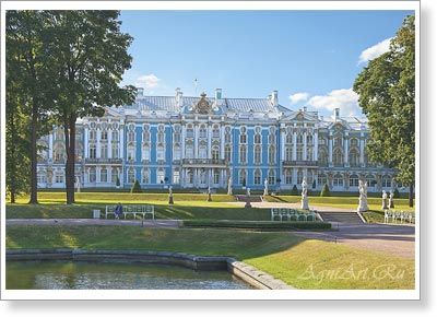 Saint-Petersburg. St. Petersburg. The Catherine (Grand) Palace In Tsarskoye Selo. Poster A3 (30x40 cm)