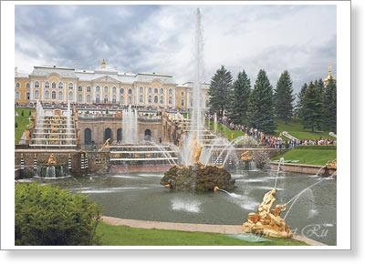 "Saint-Petersburg. St. Petersburg. The central Fountain The Grand Cascade ""Samson Randing The Lion`s Jaws"" In Petrgof. Poster A3 (30x40 cm)"
