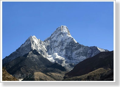 Mountains. The Himalayas. View of Ama Dablam. Poster B2 (50x70 cm)