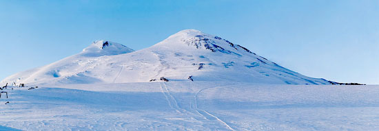 Mountains. The Caucasus. View from Elbrus. Poster B2+ (33x95 cm)