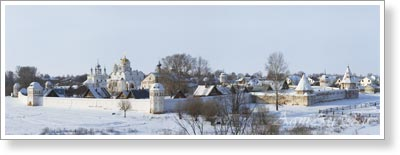 Cities. Suzdal. View of the Intercession Convent. Poster B2+ (33x95 cm)