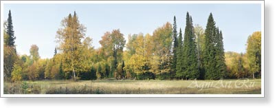The Urals. September. Poster A3+ (25x70 cm)