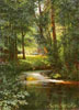 Miasoyedov Grigory. In Spring (Forest Stream near Poltava). Fine art postcard A6